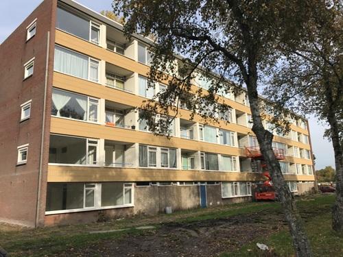 Renovatie Kleurenflats Poelenburg te Zaandam